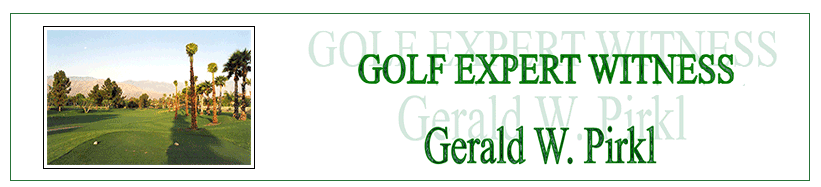 Golf Expert Witness Banner